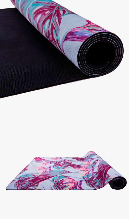 summer flower yoga mat detail