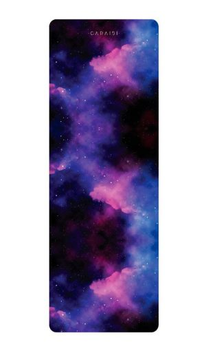 yoga mat purple planet