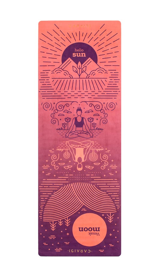 travel yoga mat twilight
